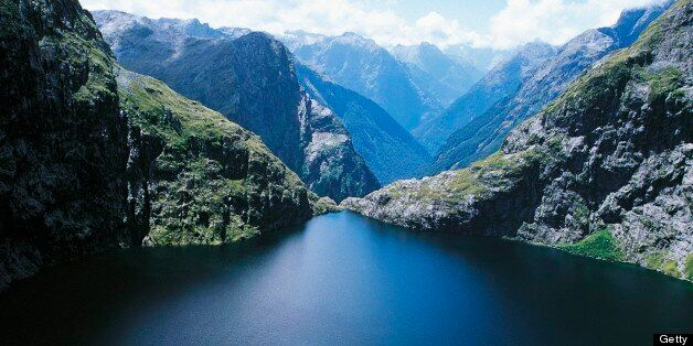 NEW ZEALAND - SEPTEMBER 29: Lower Lake Quill, Fiordland National Park, Te Wahipounamu (UNESCO World Heritage List, 1990), Sou