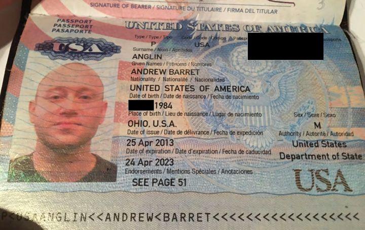 Neo-Nazi Andrew Anglin's passport