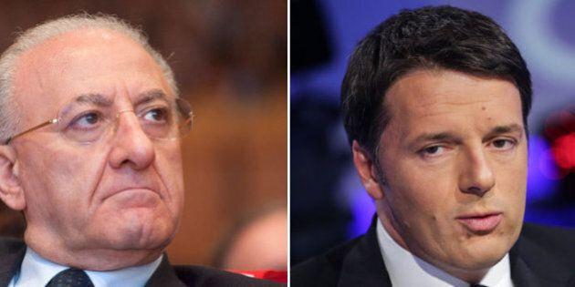 Regionali, Matteo Renzi lancia Vincenzo De Luca