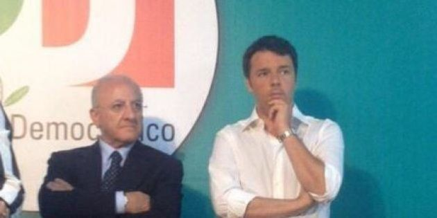 Matteo Renzi con Vincenzo De Luca a Salerno: