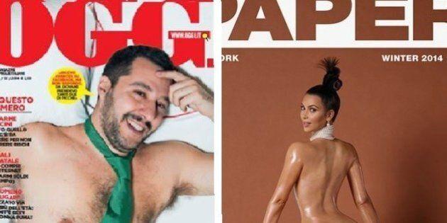 Matteo Salvini desnudo su Oggi, su twitter come Kim Kardashian. L'ironia del social network