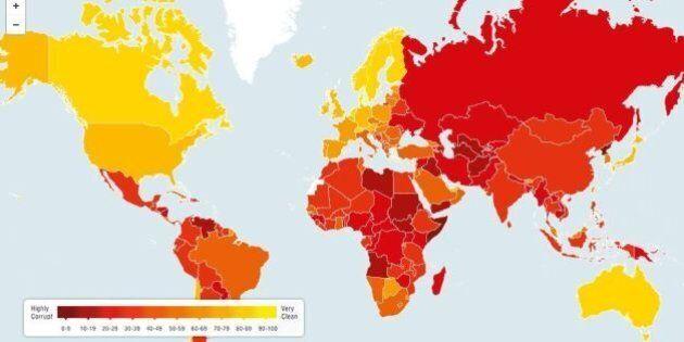 Corruzione, Italia è paese più corrotto d'Europa. La classifica di Transparency su 178