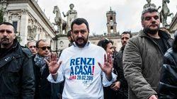 Le Pen, bandiere russe e Casa Pound. Il barbaro Salvini cala su