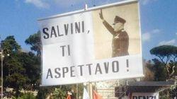 Foto di Benito Mussolini in piazza del Popolo: