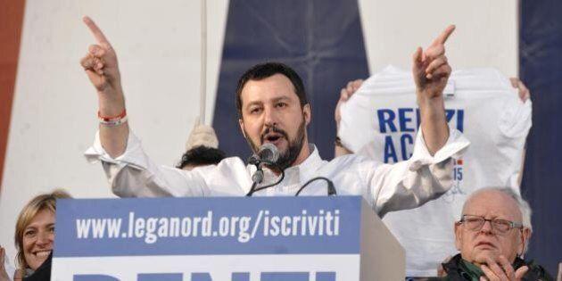 Salvini a Roma: il V-day del fronte anti Renzi. CasaPound lancia l'altro Matteo: