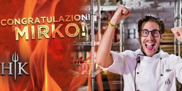 Hell's Kitchen, finale. Mirko vince battendo Chiara a colpi di mestolo. Terza Eleonora. Clima teso: scontri...