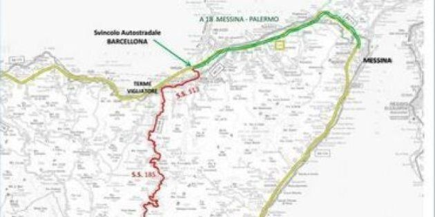 Frana lungo l'autostrada Catania-Messina. Sicilia divisa in tre. Ance: