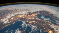 In volo sull'Italia: il video dell'astronauta mostra una bellezza senza