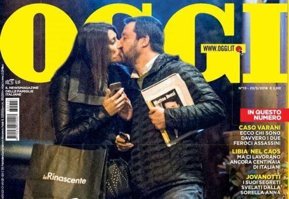 Matteo Salvini bacia Elisa Isoardi e le dichiara il suo amore: