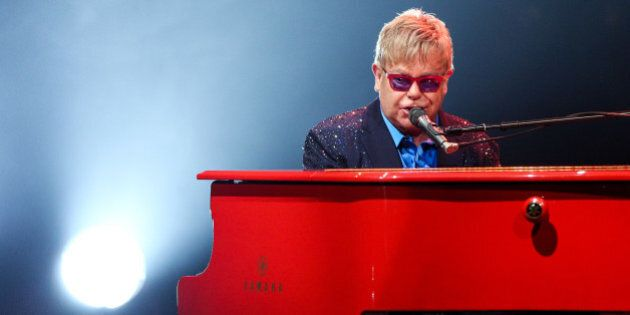 FILE - In this Wednesday, Jan. 13, 2016 file photo, Elton John performs at The Wiltern in Los Angeles....
