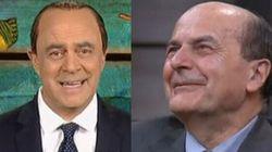 Crozza-Berlusconi sfotte Bersani: