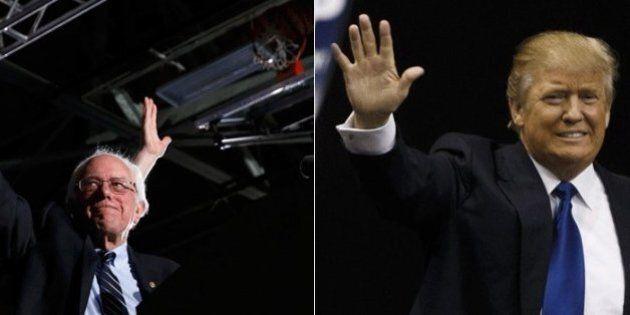 Elezioni Usa: Donald Trump e Bernie Sanders vincono primarie New