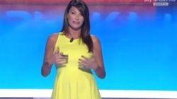 Ilaria D'Amico in onda con il pancione