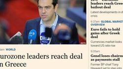 L'accordo Grecia-creditori sulle prime pagine dei giornali