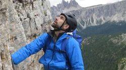 Erik, alpinista non vedente, scala la Marmolada grazie a un