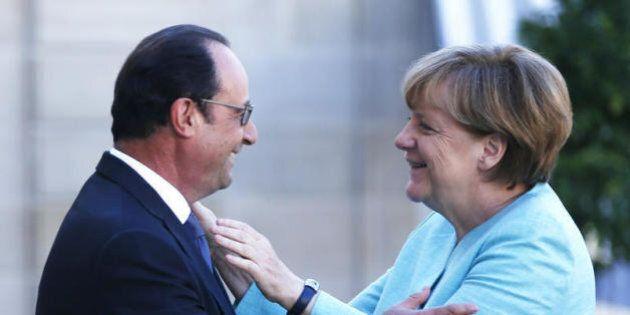 Angela Merkel e François Hollande: