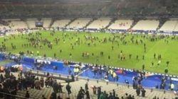 Si sentono le esplosioni e allo stadio scatta il panico