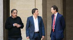 Il premier stringe i rapporti con Marchionne e gli investitori del 'gran