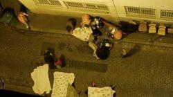 Lenzuola dalle finestre per coprire cadaveri, #porteouverte per chi cerca un