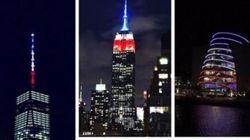 Dall'Empire State Building allo stadio di Wembley, i monumenti con i colori della