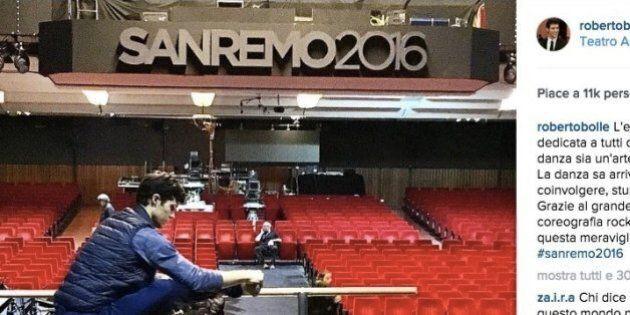 Roberto Bolle apre Sanremo ballando sulle note di
