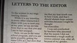 La lettera di uno studente di ingegneria spiega perché lui e le sue compagne non sono