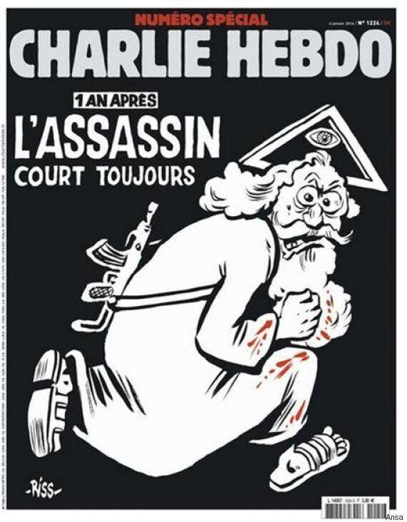 La nuova copertina di Charlie Hebdo ricorda la strage di un anno fa:
