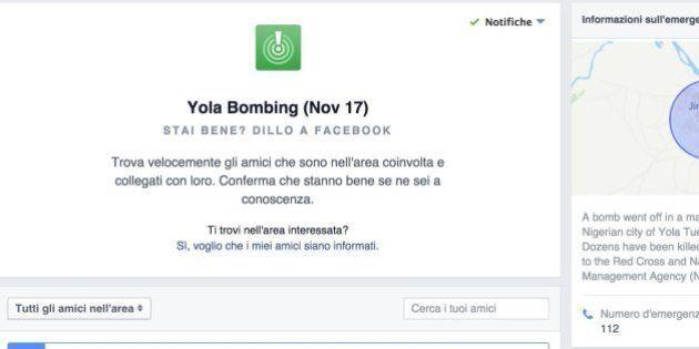 Safety Check di Facebook attivato in Nigeria dopo un attacco di Boko Haram. Usato per la seconda volta...