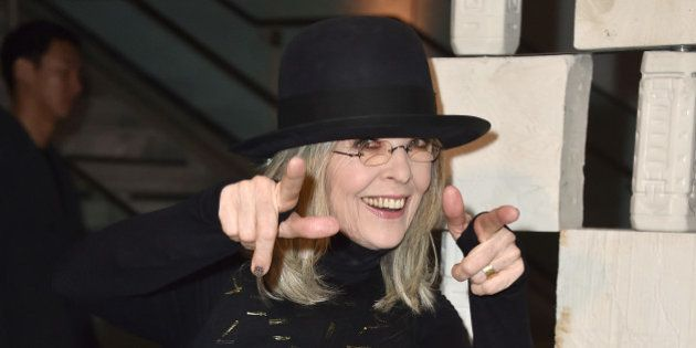 Diane Keaton arrives at the 13th Annual Gala in the Garden at the Hammer Museum on Saturday, Oct. 10,...