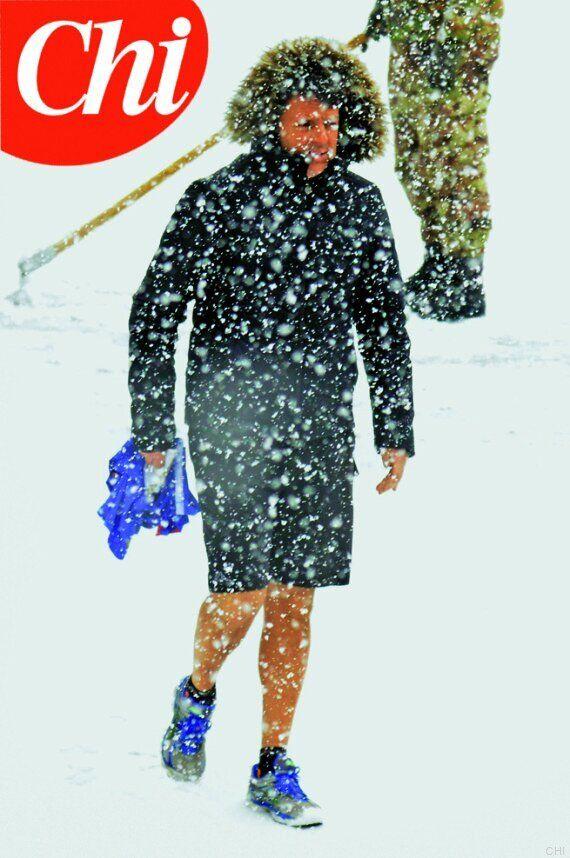 Matteo Renzi come Rocky IV contro Ivan Drago: allenamento in pantaloncini sotto la neve
