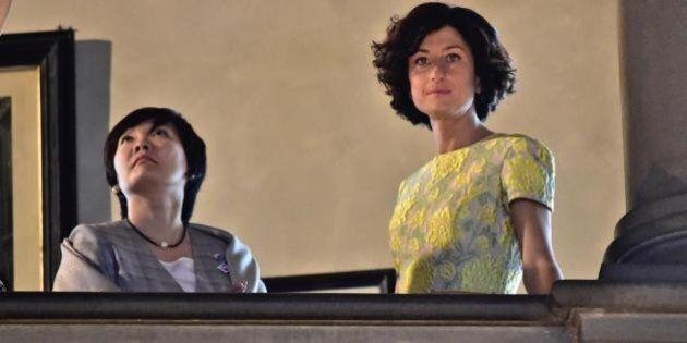 Agnese Renzi e la first lady giapponese in visita a Palazzo