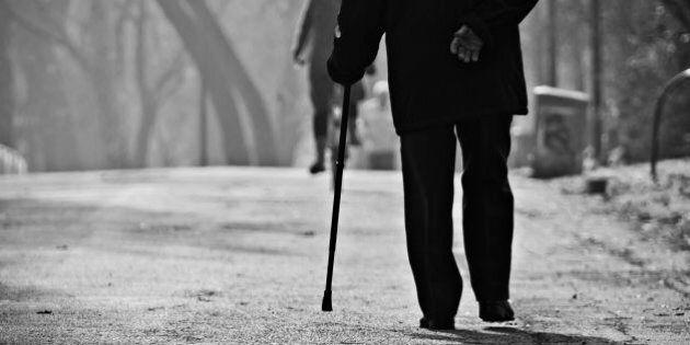 Un anziano che passeggia al parco LambroSe avete un attimo di tempo, potete criticare la mia foto? Credo...