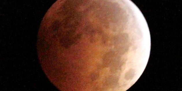 The Blood Moon, created by the full moon passing into the shadow of the earth during a total lunar eclipse,...