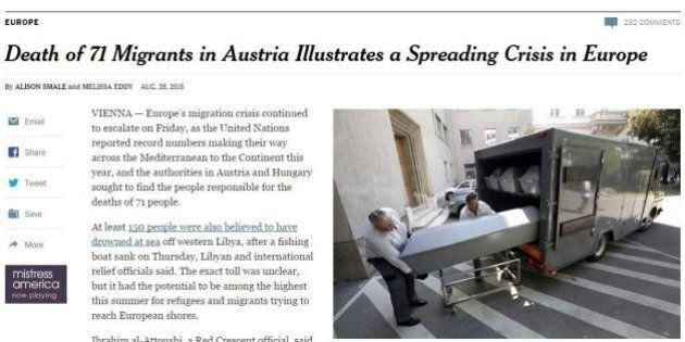 Migranti, il New York Times critica l'Europa: