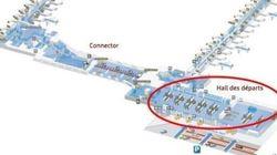 La mappa dell'aeroporto più grande del Belgio colpito dagli