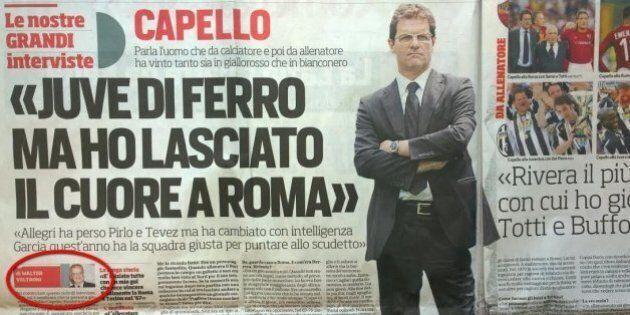 Walter Veltroni, nuova vita nel segno del calcio. Ciclo di grandi interviste per il Corriere dello Sport....