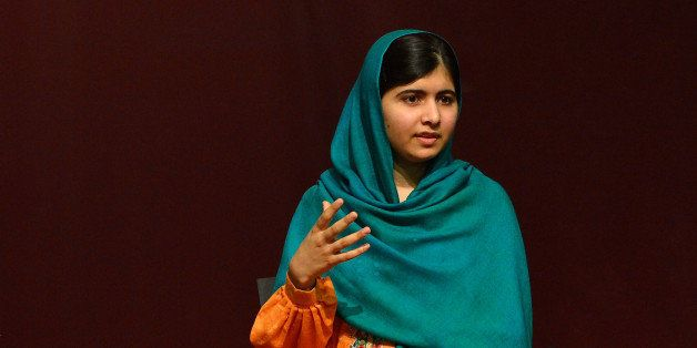 BOSTON, MA - OCTOBER 12:  (L-R) WBUR's Robin Young and Malala Yousafzai attend 'A Conversation With Malala Yousafzai' present