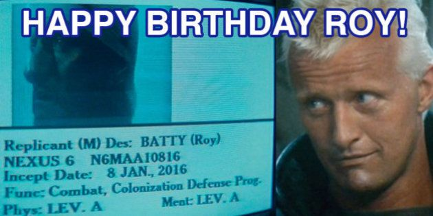Blade Runner, oggi, 8 gennaio 2016, è nato Roy Batty, il replicante del film di Ridley