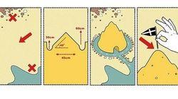 Il castello di sabbia perfetto in 4 passi, secondo Renzo Piano