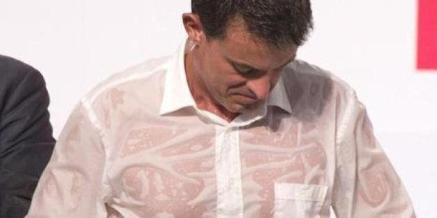 Manuel Valls e la camicia bagnata: il discorso del ministro francese è