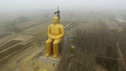 Abbattuta a sorpresa la maxi-statua