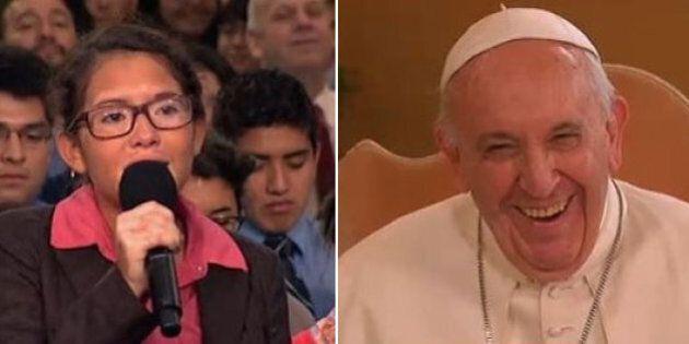 Papa Francesco alla studentessa malata: