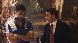 Renzi incontra la Nazionale: