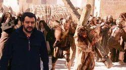 La Guzzanti mette Salvini nei momenti cruciali della Storia. E il web si
