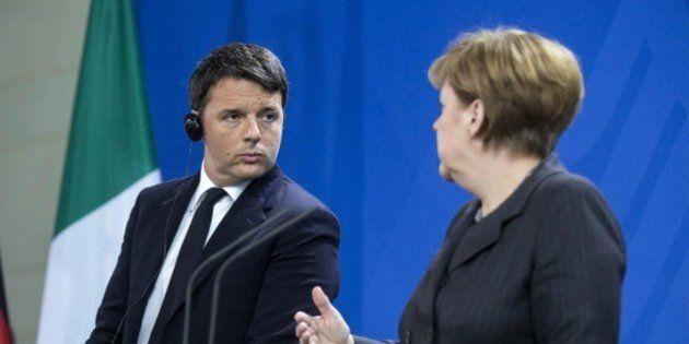 Matteo Renzi provoca Angela Merkel su Deutsche