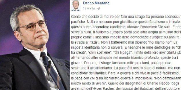 Attentati Bruxelles, Enrico Mentana: