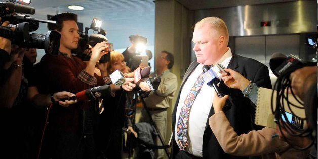 TORONTO, ON - NOVEMBER 5: Toronto Mayor Rob Ford has admitted to smoking crack cocaine while surrounded by media, November 5,