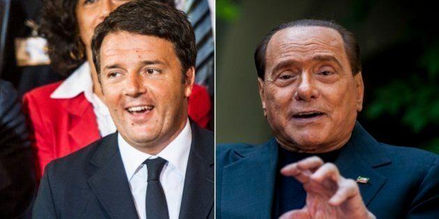 Matteo Renzi chiude la festa de Il Giornale. Il giorno prima l'ospite è Silvio Berlusconi