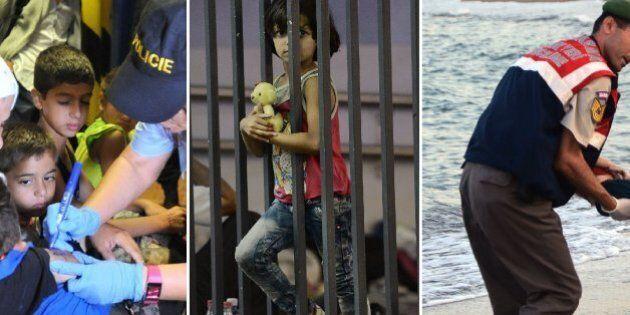 Migranti marchiati, segregati e ignorati. Tre foto simbolo raccontano un giorno di ordinaria catastrofe...
