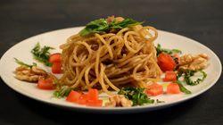 Per preparare spaghetti alici e noci ti basta un minuto